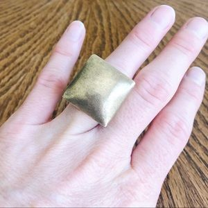 18k gold plated ring by Sheila Fajl